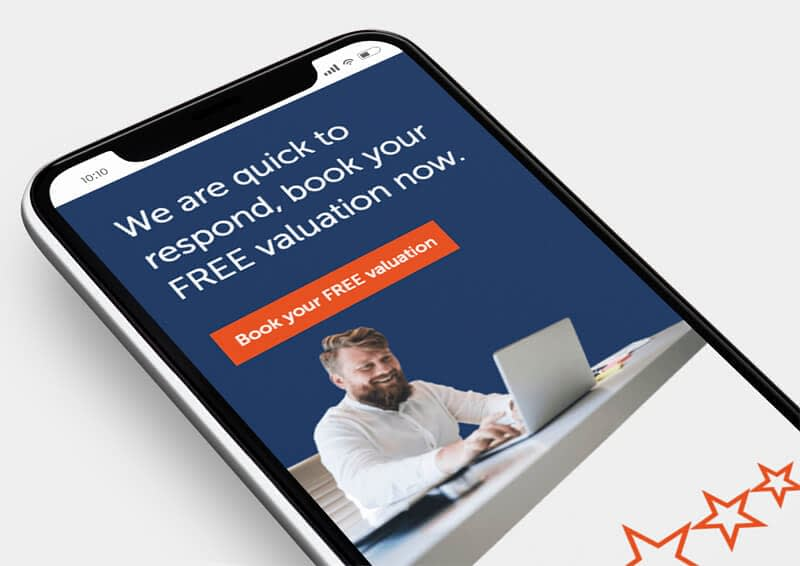 Screenshot of Mobile Web Design for HR Estate Agents