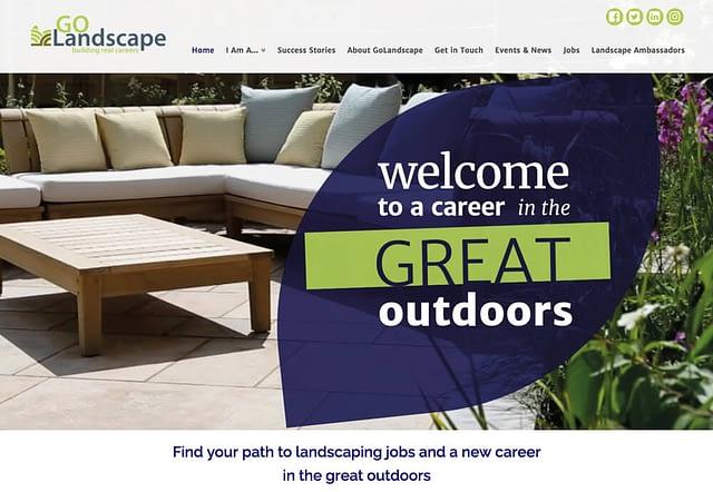 Screenshot of Web Design for Go Landscape Landscaping Jobs