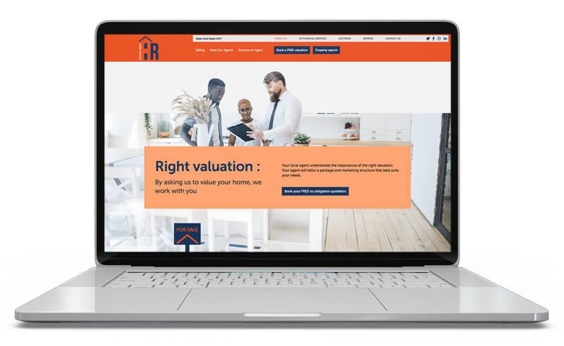 Screenshot of Website Design for HR Estate Agents