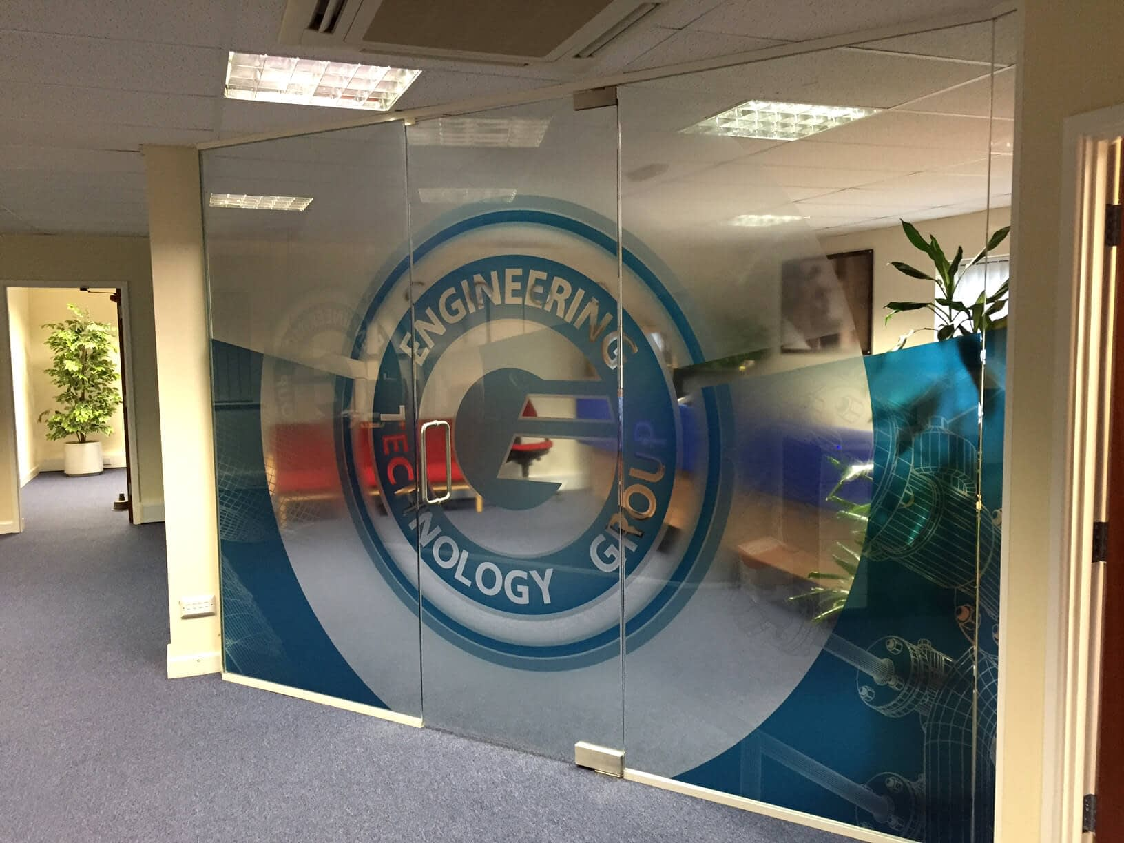 Brand design for graphics for internal partitioning