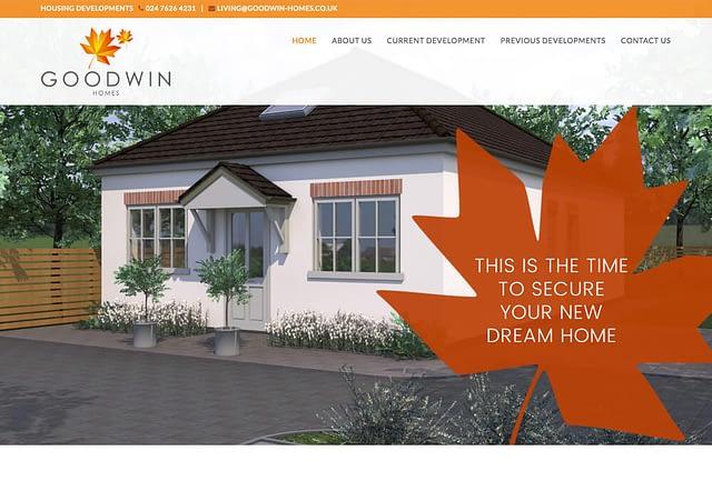 Web Design Goodwin Homes Housing Developments