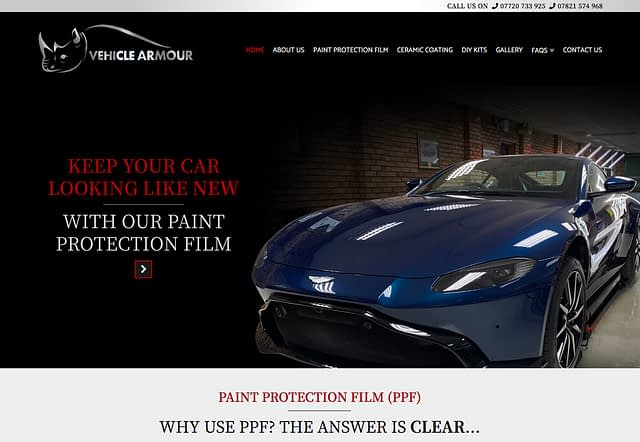 Web Design for Vehicle Armour