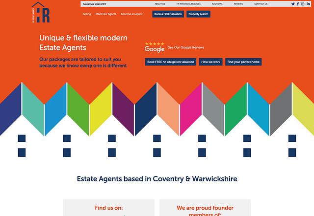 Screenshot of HR Estate Agents Website Design