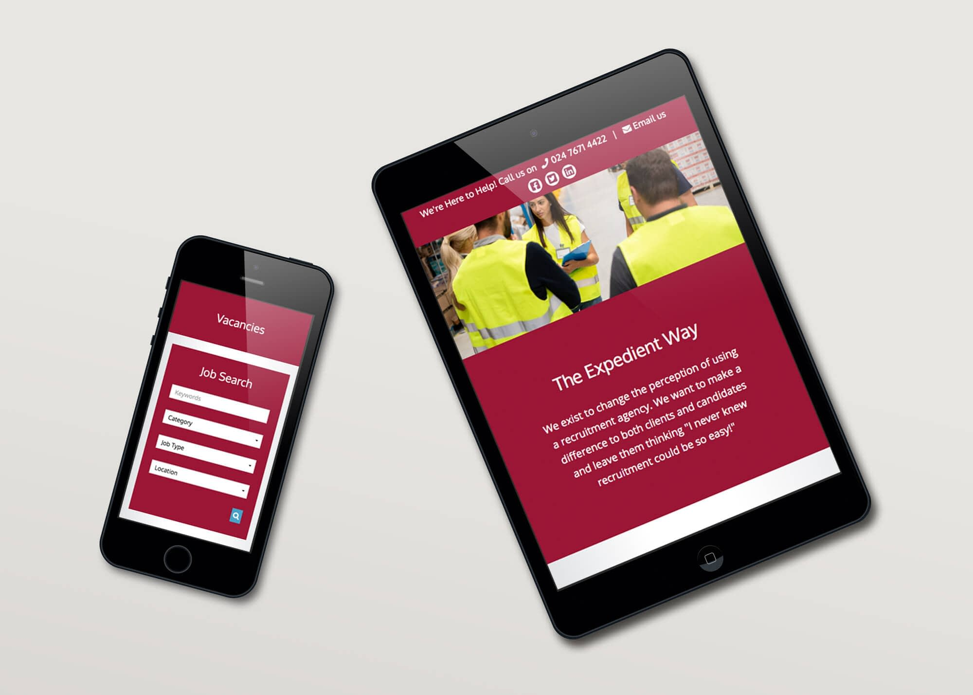 Web Design with Job Search for Expedient Recruitment