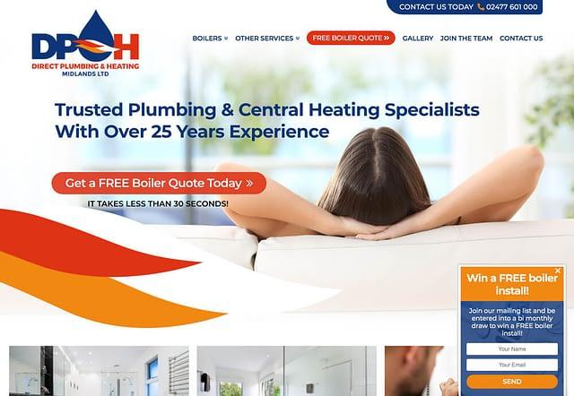 Web Design for Direct Plumbing & Heating Midlands