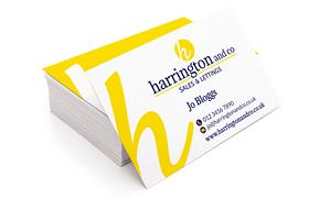 Harrington and Co Business Cards