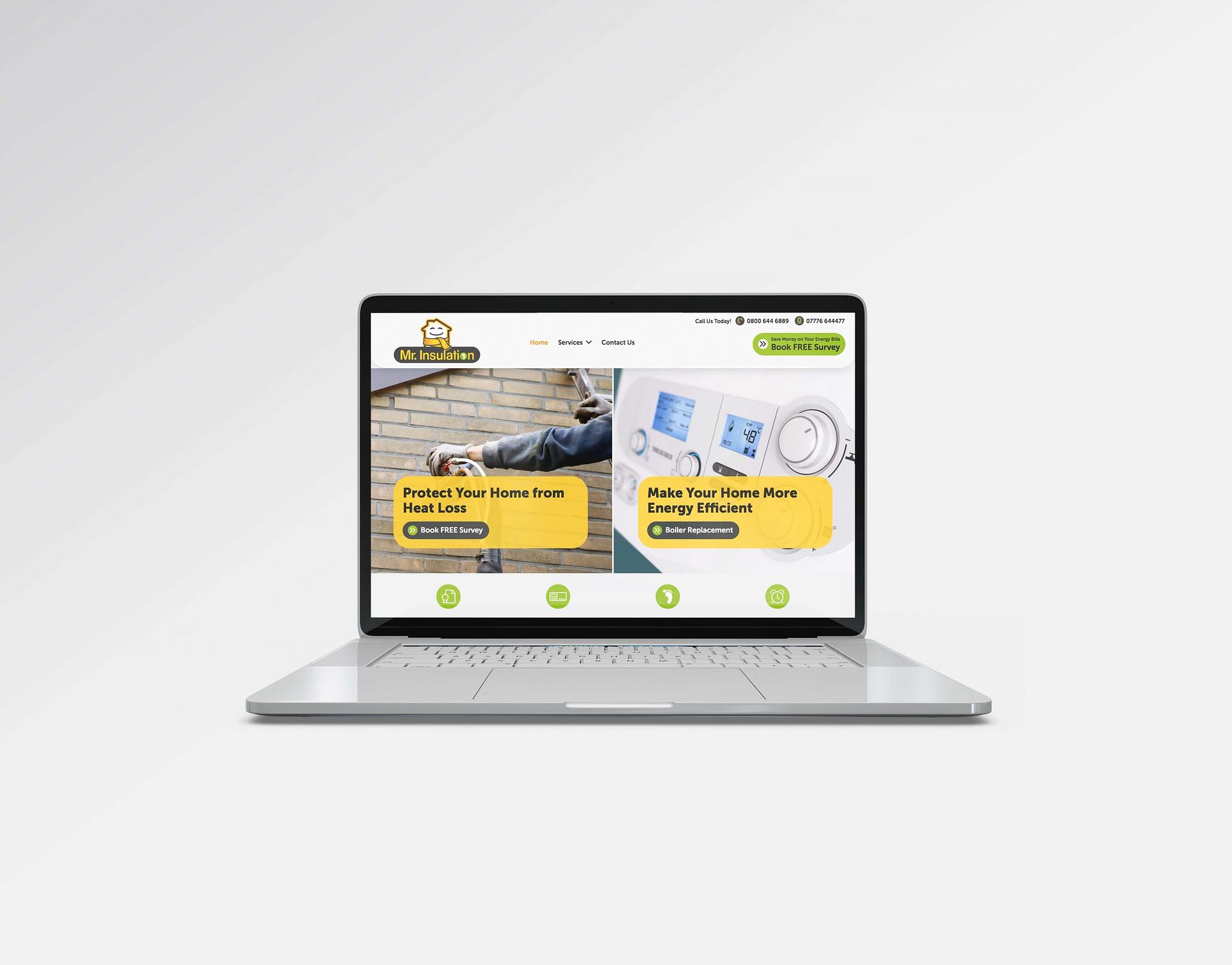 Screenshot of Mr. Insulation website