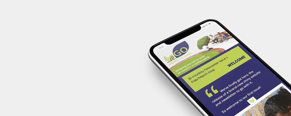 Responsive emailer design image for Go Landscape