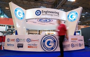 Brand design example of full stand graphics