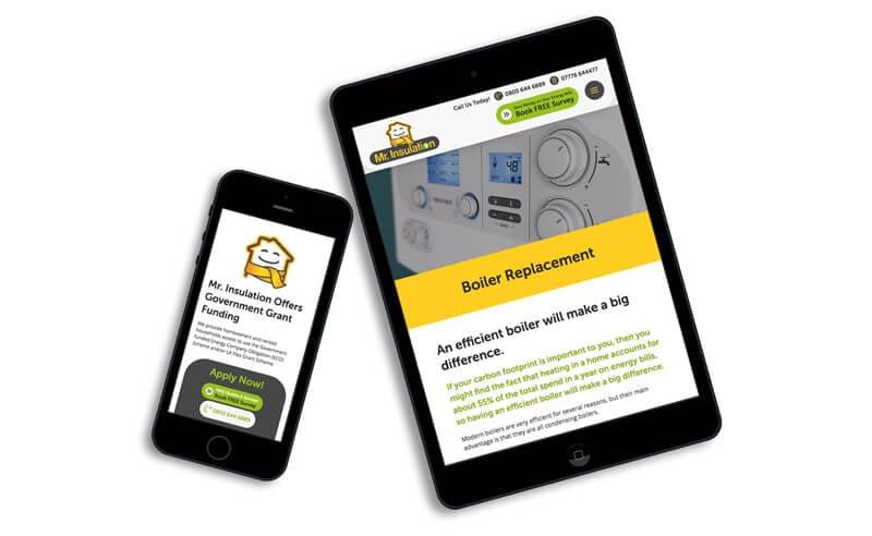 Screenshot of Responsive Website Design for Mr Insulation