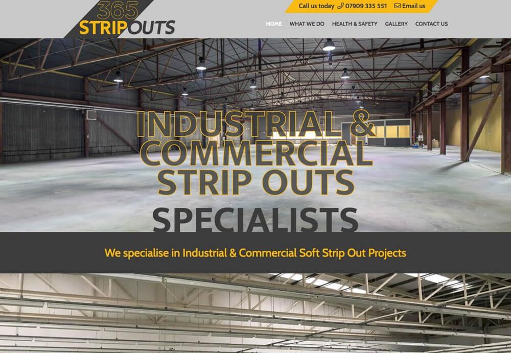 Screenshot of 365 Strip Outs website