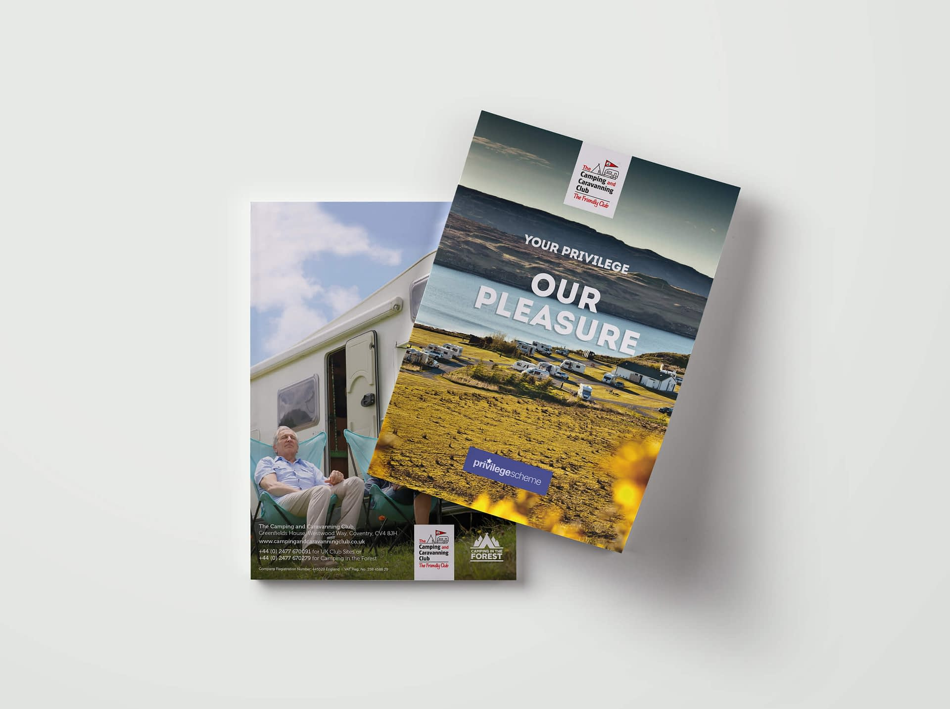 Photo of The Camping and Caravanning Club Privilege Scheme brochure design