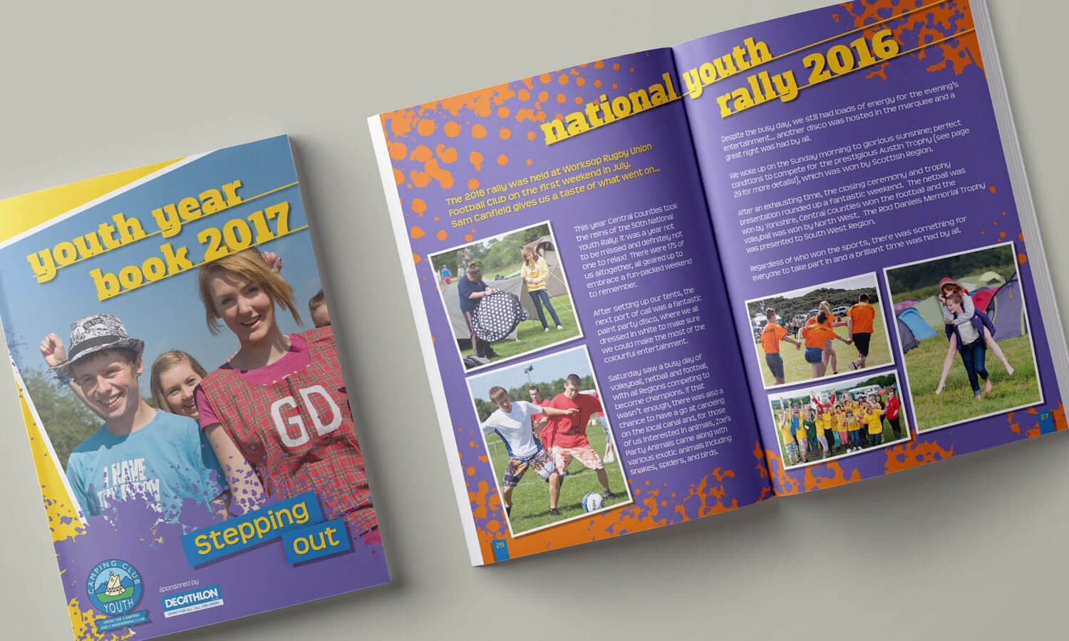 Photo of the Camping Club Youth year book design