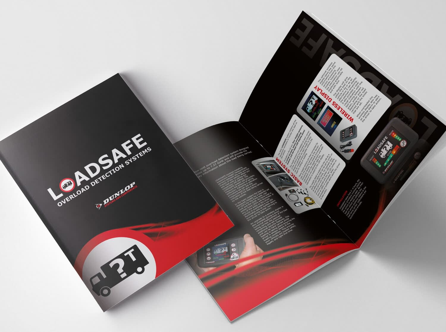 Graphic design and printed brochures for Loadsafe