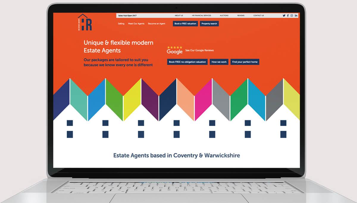 Screenshot of Web Design for HR Estate Agents