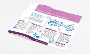 Brochure design, branding work