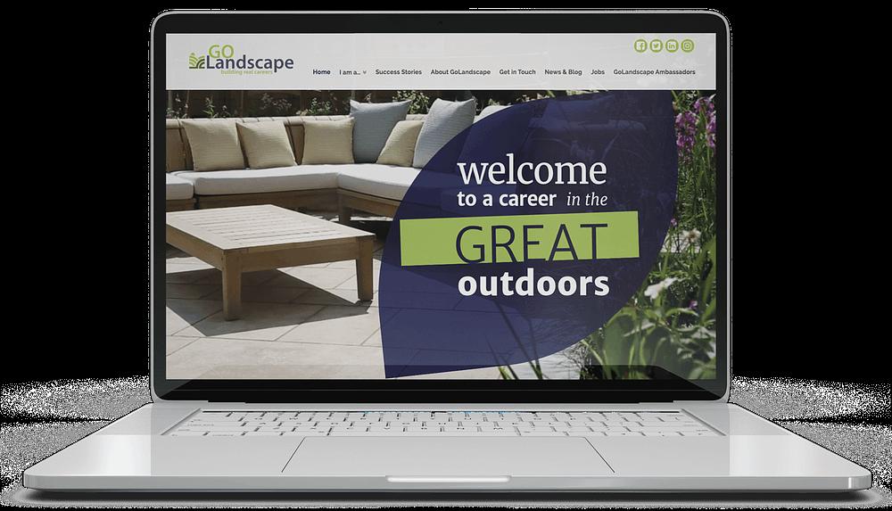 Web Design Home Page for Go Landscape