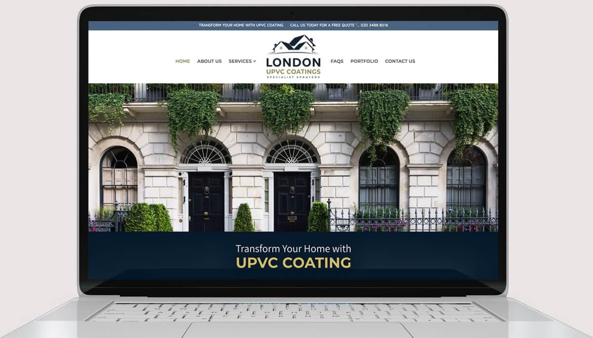 Screenshot of Web Design for London UPVC Coatings