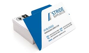 Business cards design and print for Stride Supplies