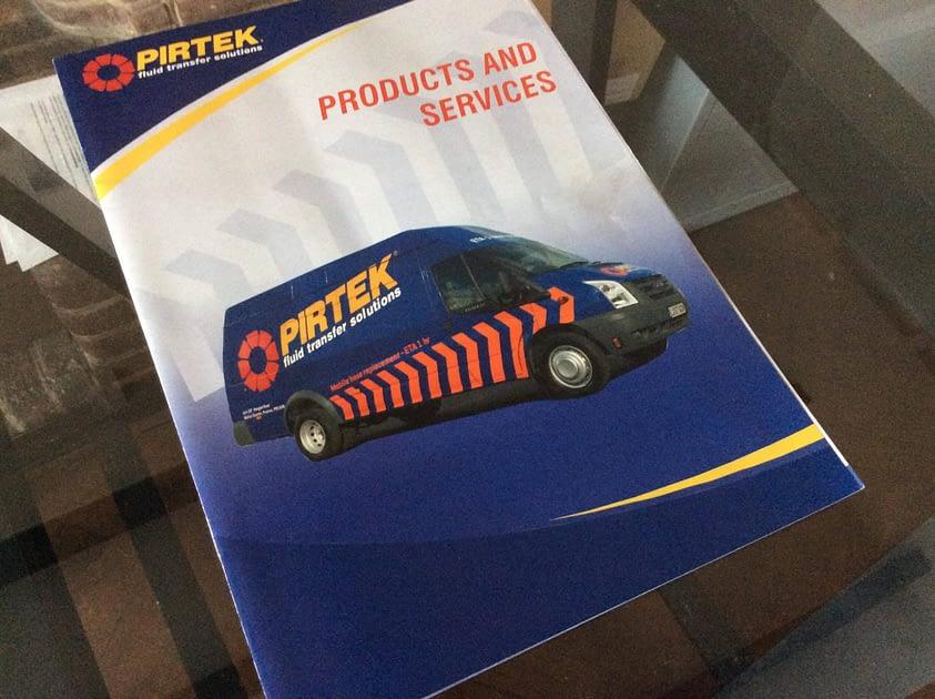 Pirtek Graphic Design of Cover for Catalogue Brochure