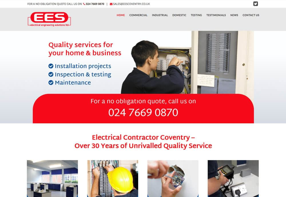 Web design for electrical engineering