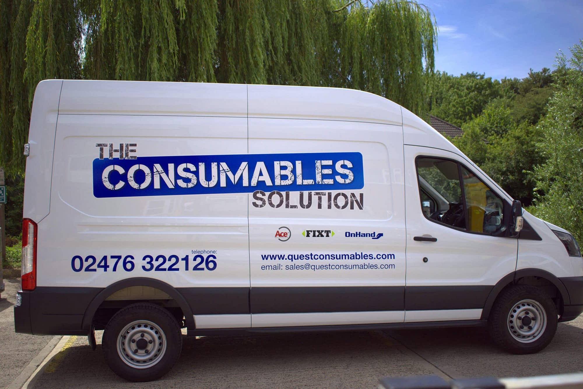 Branding design including vehicle graphics design and and fit