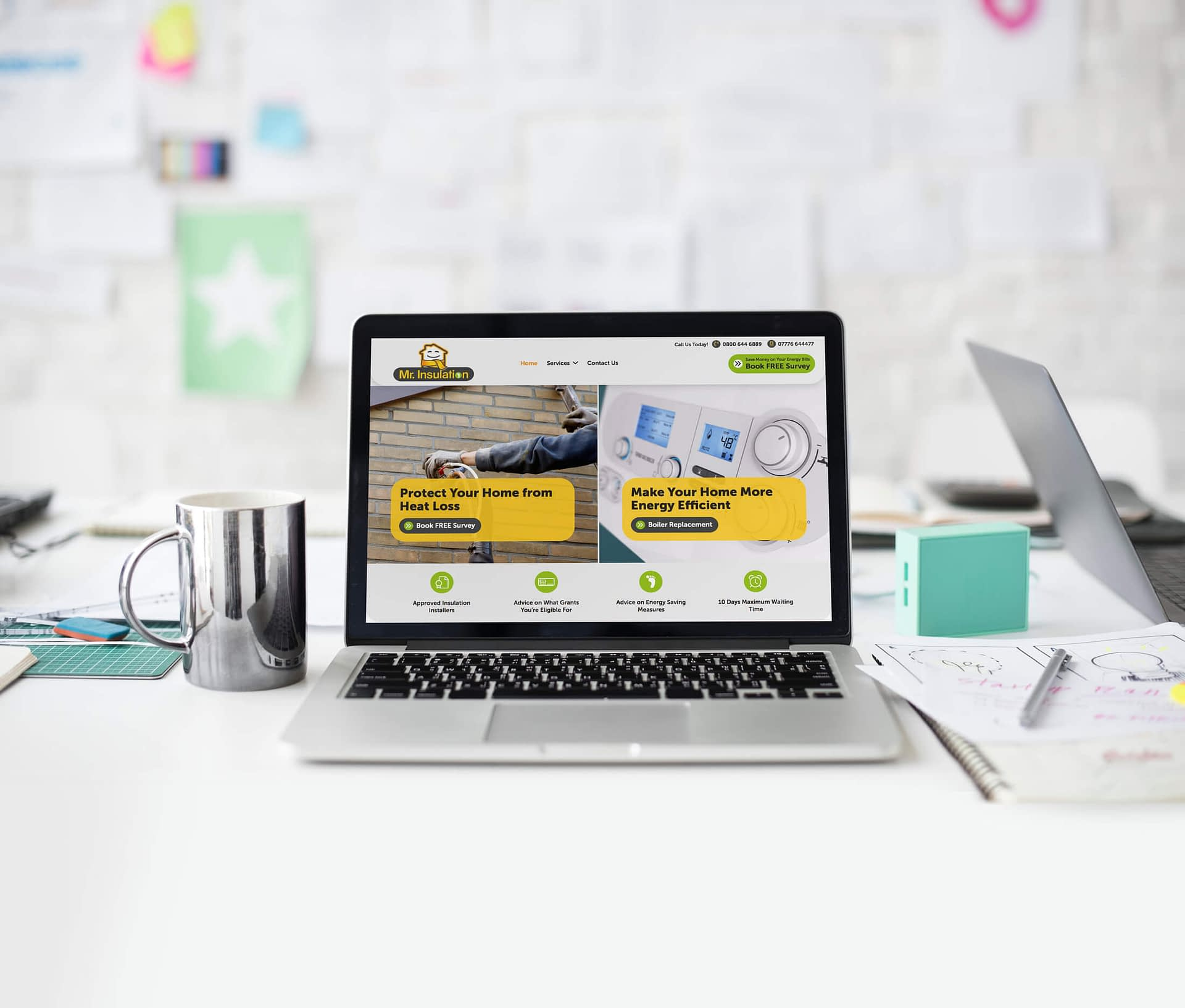 Home page image of a Custom Websire Design for House Insulation client