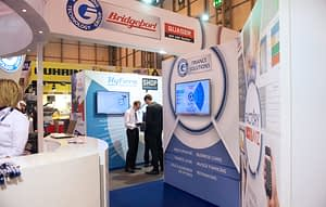 Exhibion stand design and exhibitions graphics for ETG MACH Exhibition Stand