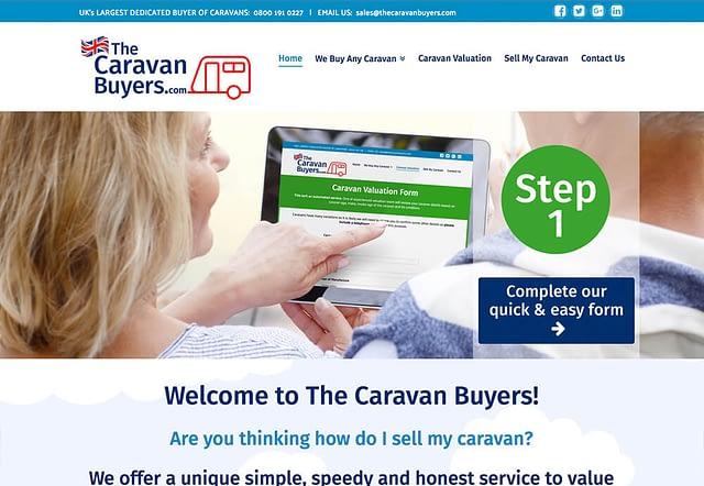 Web Design for The Caravan Buyers
